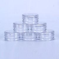 2ml بلاستيك فارغ الجرار وعاء واضح غطاء 2Gram حجم لـ كريم ظلال الأظافر مجوهرات E سائل