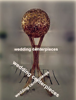 centro de la boda de la astilla / del oro soporte de flor mental candlelabra, candelero mental