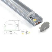 30 X 2M imposta forma angolo / lot 60 gradi profilo alluminio led tipo alluminio incurvato condotto alloggiamento per lampade a soffitto oa parete incasso