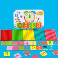 Montessori Baby Toy Magnetic Iron Box Counting Stick Wooden ...