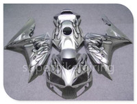 3 + omaggi per Honda CBR1000RR 2006 2007 06 07 Kit carenatura moto ABS Carrozzeria fiamma fiamme argento Carenatura set