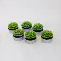 KGTECH Nice Festival Home Decor Cactus Candles Mini Cute Green Plants Декоративная свеча для торжества 6 шт.