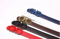 Big large buckle genuine leather belt with out box designer ...