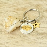 Personalized Yoga Key Rings Initials Keychain Quartz Keychai...