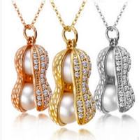 좋은 A ++ 새로운 천연 담수 진주 목걸이 다이아몬드 고급 그립 땅콩 목걸이 WFN460 (체인 포함) 20 개들이 많이 주문