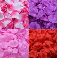 Hot 100pcs Rose Petals Wedding Flowers Artificiale Rosa Romantico fiori di seta falsi per le decorazioni della festa di compleanno di nozze