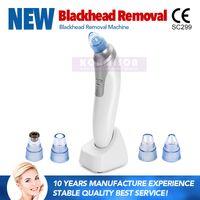 USB ricaricabile dispositivo di rimozione di comedone per rimozione dell'acne che solleva la pelle con le teste funzionanti di 4pcs Dermoabrasione Aspirapolvere di comedone per il pulitore dei pori