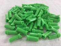 50PK en plastique tir à l'arc des clous pour ID 7.76mm en aluminium arbalète flèche demi-lune forme verte couleur