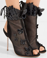 Chaussures Femme Etes 2017 Vrouwen Gladiator Sandalen Lace Up Hoge Hakken Runway Schoenen Studded Bowtie Sweet Style Dames Party Trouwschoenen Laarzen