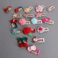 Everweekend Baby Girls Candy Flower Cartoon Hair Clips Hairp...