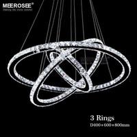 Алмаз Кристалл кольцо светодиодные люстры Кристалл лампы современный Кристалл светильник круг висит люстры светодиодные светильники домашнего освещения