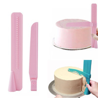 Plastic Cake Smoother Tool Edges Adjustable Scraper Fondant ...