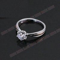 Großhandel Schmuck 1CT Qualität Sterling Silber Solitaire Ring Zinken Garantie Synthetische Diamanten 925 Ring für Frauen Hochzeit 925 Trendy Jewel