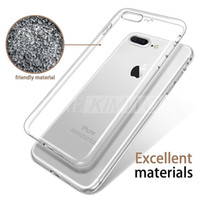 Ultra mince pour Iphone 7 Plus Cas Iphone 6S Plus S8 Edge S6 Edge Plus Crystal Clear TPU Silicone Soft Cover