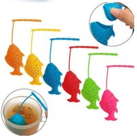 Cute Fish Shape Tea Infuser Silicone Strainers Tea Strainer ...