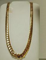 """Collar de cadena de eslabones de eslabones cubanos de 14K oro Miami para hombre 24 """""""