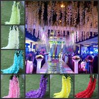 """Kunstmatige Hydrangea Bloem 140cm / 55 """"Fake Silk Single Hydrangeas 9 kleuren voor bruiloft centerpieces Home Party Decoratieve bloemen"""