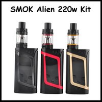 2016 Authentic SMOK Alien 220W Starter Kit Alien Box MOD whi...