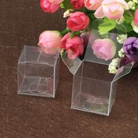 50pcs 6*6*6cm clear plastic pvc box packing boxes for gifts ...