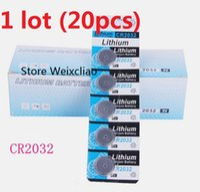 20pcs 1 개 CR2032 3V 리튬 이온 버튼 셀 배터리 CR 2032 리튬 이온 배터리 3 개 리튬 이온 배터리 무료 배송
