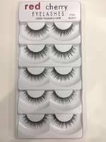 Rouge Cherry Faux Cils 5 paires / pack 8 Styles Naturel Longue Maquillage Professionnel Big eyes High Quality