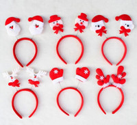 Red double head Christmas headband Christmas decorations mul...
