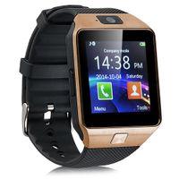 DZ09 Smart montre Bluetooth Wearable Device DZ09 Smartwatch pour iPhone Android Phone Watch avec caméra Horloge SIM / TF Slot Que U8
