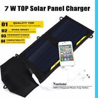 شاحن بالطاقة الشمسية 7W المحمولة حقيبة شحن عدة للطاقة الشمسية للهواتف Android PowerBank GPS MP3 / 4 وأجهزة أي شيء 5V