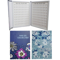 1 unid Profesional 180 Colores Nail Art Color Book Chart Salon Gel Acrílico Consejos Display Card Book Chart con Consejos Nail Art set
