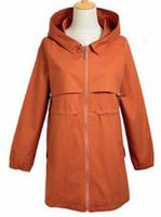 Der Frühling und Herbst und die Han-Ausgabe neue Mode zeigen dünne Frau mehr Reißverschluss reine Farbe Trenchcoat / M-4xl