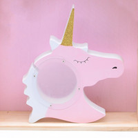 Piggy Bank Unicorn Shape Practical Wooden Ornament Cute Anim...