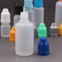 2017 Venta Caliente 3000 unids LDPE Aguja Botellas 30 ml Botellas de Plástico Cuentagotas 30 ml Con Niño a prueba de Colores Tapas Para e líquidos