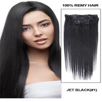 Wholesale clip in human hair extensions 160g buy cheap clip in 70g 100g 120g 160g full head silky straight remy clip in human hair extension black brown blonde optional 16 pmusecretfo Images