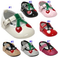 7 Colour Baby girl paillette Princess shoes soft sole PU lea...