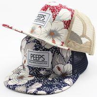 Nuevas flores Mesh Hip Hop Snapback Gorras de béisbol Peeps Niñas bebés Sombreros Sun Fitted Sombrero HipHop Niños Snap back Casquette