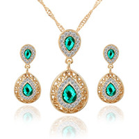 Top Quality Austria Zircon Crystal Alloy Necklace Earrings J...