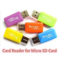 Estáveis Cartão Universal premium Leitores TF T-Flash Micro Cartão de memória Secure Digital agradável Mini USB 2.0 Memory Card Reader Adaptador TransFlash