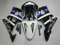 Kit carénage de moulage par injection pour Suzuki GSXR1000 03 04 kit carénages blanc bleu noir GSXR1000 2003 2004 OT14