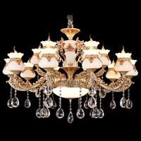 Luces de araña llevó luces de araña colgantes led de lujo americano americano retro led para hotel villa Penthouse decoración del hogar