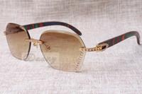 2019 Yeni Stil Yüksek Kalite Lüks Trendy Elmas Tavuskuşu Ahşap Güneş Gözlüğü 8100909 Erkek ve Kadın için Gümüş Kahverengi Lens, Boyutu: 60-18-135mm