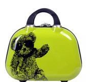 2017 New Size Bag 12inch Mulheres Cosméticas Casuais Homens Bolsas Functional Pequeno Armazenamento de Viagem Maquiagem Multi Urso Lufbx