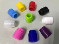 810 de diámetro ancho de silicona desechable punta de goteo cubierta de la boquilla colorida tapas de prueba de goma con un solo paquete individual para TFV12 TFV8 gran bebé
