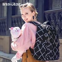 الجزر أسلوب جديد Multifuntional أزياء حفاضات الطفل حقيبة الظهر حقيبة الأم تغيير حقيبة