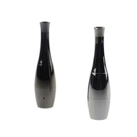 cera vaso canhão Bowling Atomizador seco Herb vaporizador Rebuildable bobina dupla de aço inoxidável Vaso Metal Forma Vapor E-Cigs atomizador