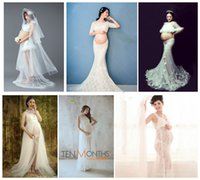 New Maternity Photography Props Fancy Long Maternity Dresses...