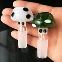버섯 버블 유리 봉 액세서리, 유리 흡연 파이프 다채로운 미니 멀티 컬러 핸드 파이프 Best Spoon glass Pipe
