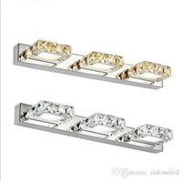 Square Bathroom Sconces wholesale crystal wall sconces bathroom - buy cheap crystal wall