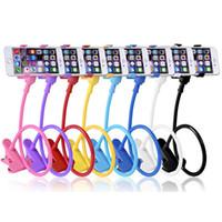 Durable Flexible Brazos largos Lazy Cama Desktop Soporte de teléfono móvil Soportes para teléfono celular Samsung 3-7 pulgadas 12 cm para teléfono inteligente DHL