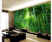 Grande parete di fondo espansione tavola di legno su strada 3D bambù murale 3d 3D Wallpaper carta da parati per la tv sullo sfondo