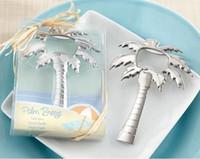 """Livraison gratuite """"Palm Breeze"""" Chrome Palm Arbre Bière Bouteille Opener de mariage douche nuptiale faveur cadeau WA2029"""